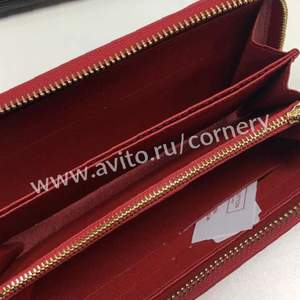 Supreme X Louis Vuitton zippy wallet red black в Новогиреево